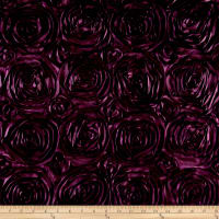Wedding Rosette Satin Plum