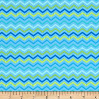 Moda Brighten Up! Chevron Up Blue
