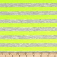 "Jersey Knit 1/2"" Stripe Heather Gray/Neon Yellow"