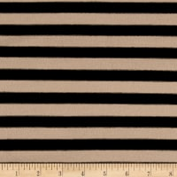 "Jersey Knit 1/2"" Stripe Black/Sand"