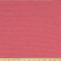 Pin Stripe Jersey Knit White/Red