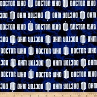 BBC Doctor Who Comics Doctor Who Logo Stripe Blue