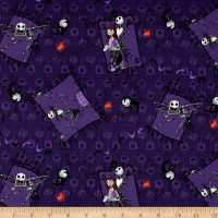 Disney Nightmare Before Christmas Couple Purple