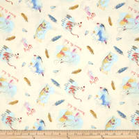 Disney Pooh Everyday Pooh and Friends Feathers Multi