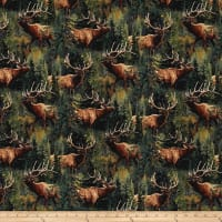 Wild Wings Lazy Afternoon Elk and Pines Multi