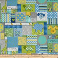 Kimberbell Little One Flannel Too! Allover Patch Blue