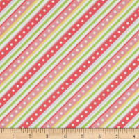 Kimberbell Little One Flannel Too! Diagonal Stripe Pink