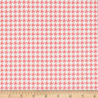 Kimberbell Little One Flannel Too! Houndstooth White/Pink