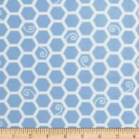 Kimberbell Little One Flannel Too! Honeycomb Blue