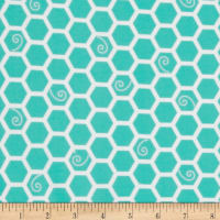Kimberbell Little One Flannel Too! Honeycomb Teal