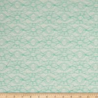 Double Daisy Crochet Lace Mint