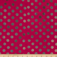 Alison Glass Handcrafted Patchwork Batik Dot Magenta Red