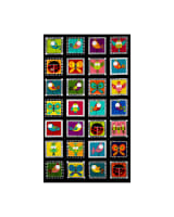 "Sweet Tweets 24"" Panel Blocks Black"