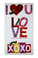 "The Very Hungry Caterpillar I Love You 23.5"" Panel Red"