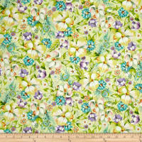 Pretty As A Peacock Floral Pale Green