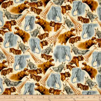 Out of Africa Safari Animals Packed Cream