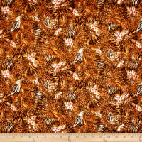 Out of Africa Mixed Animal Skins Burnt Orange