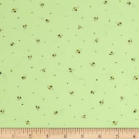 Ink & Arrow Little Buggers Flannel Tiny Bees Light Green