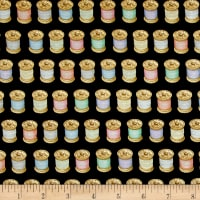QT Fabrics Cute as a Button Thread Black
