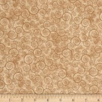Harmony Flannel Curly Scroll Camel