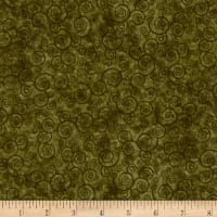 Harmony Flannel Curly Scroll Moss