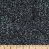 QT Fabrics Harmony Flannel Curly Scroll Charcoal