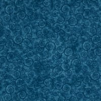Harmony Flannel Curly Scroll Teal