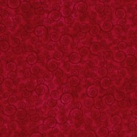 Harmony Flannel Curly Scroll Red