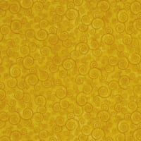 QT Fabrics Harmony Flannel Curly Scroll Sunflower