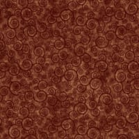 Harmony Flannel Curly Scroll Terracotta