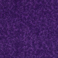 QT Fabrics Harmony Flannel Curly Scroll Pansy