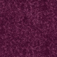 Harmony Flannel Curly Scroll Plum Velvet