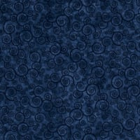 Harmony Flannel Curly Scroll Slate Blue