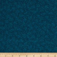 Harmony Flannel Squares Prussian Blue