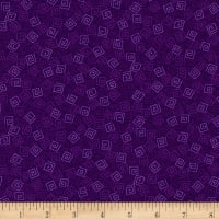 QT Fabrics Harmony Flannel Squares Grape