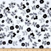 E.Z. Fabric Minky Kashmir Floral Grey/Black