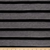 Jersey Knit Stripe Black/Grey