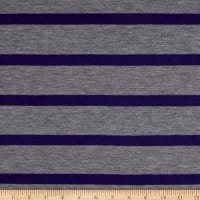 Jersey Knit Multistripe Plum/Grey