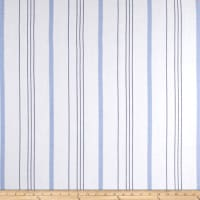 Rayon Yarn Dyed Stripe Twill French Blue/Black
