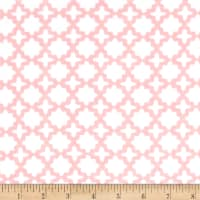 Kaufman Little Prints Double Gauze Trellis Pink
