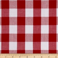 "Richcheck 60"" Gingham Check 1"" Red"