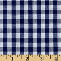 "Richcheck 60"" Gingham Check 1/4"" Navy"