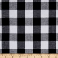 "Richcheck 60"" Gingham Check 1"" Black"