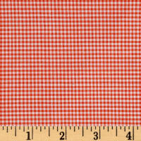 "Richcheck 60"" Gingham Check 1/16"" Orange"