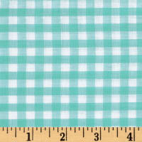 "Richcheck 60"" Gingham Check 1/4"" Mint"