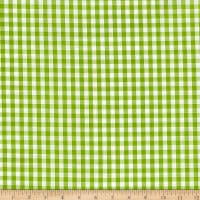 "Richcheck 60"" Gingham Check 1/4"" Lime"
