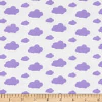 Dreamland Flannel Dreamy Clouds White/Lavender Lily