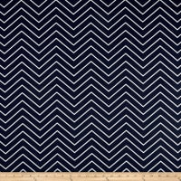 Premier Prints Cheveron Twill Blue