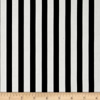 Premier Prints Basic Stripe Black Twill