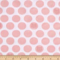 Kaufman Little Prints Double Gauze Cat Dot White/Pink